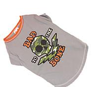 Собака Футболка Одежда для собак Косплей Черепа Серый