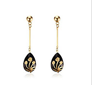 Earring Bullet Jewelry Women Fashion Party / Daily / Casual Stainless Steel 1 pair Gold
