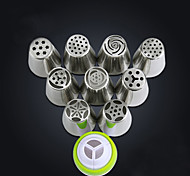 Stainless Steel Tulip Nozzle Rose Flower Russian Piping Tips Nozzles Decoration for Cake DIY Icing Piping Nozzles