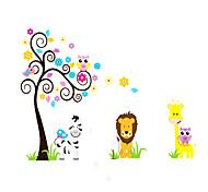 Животные / ботанический / Цветы / Пейзаж Наклейки Простые наклейки,pvc 60*90cm