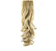 Length Dark Golden Wig Ponytail 55CM Synthetic Pearvolume High Temperature Wire Color 27/613