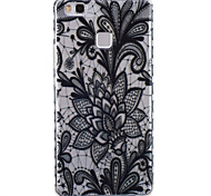 Black Rose Pattern PU Material Phone Case for Huawei P9 Lite/P9
