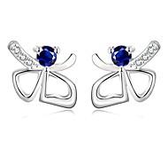 Platinum Plated Ladies' Earrings