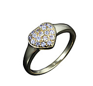 heart design Wholesale lady real big shining zircon inlay casual band ring