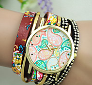Women's European Style Fashion New Ethnic Braided Wrapped Bracelet Watch