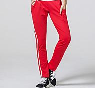 Pantaloni da yoga Pantalone/Sovrapantaloni Traspirante Naturale Elastico Abbigliamento sportivo Rosso Nero Per donnaYoga Campeggio e