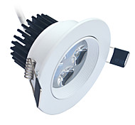 Jiawen 4W 4-LED 6000-6500K Cool white LED Ceiling Light - White (AC 85~265V)