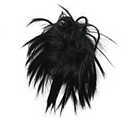 parrucca nera 10cm-alta temperatura del filo fioritura gemma di colore 2