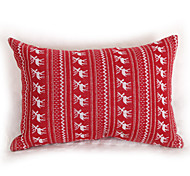 Knitted  Wapiti Cushion Cover-Red