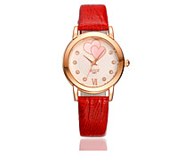 Women's Fashion Watch Water Resistant / Water Proof Casual Watch Quartz Leather Band White Red Brown