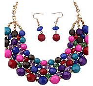 Alloy / Resin Jewelry Set Necklace/Earrings Party / Daily / Casual 1set