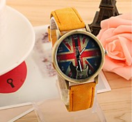 Men's Women's Couple's Fashion Watch Casual Watch Quartz Fabric Band Black White Blue Red Green Yellow