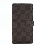 Full Body Case Geometric Pattern PU Leather Soft CHECKER TEXTURECase Cover ForSonySony Xperia XP / Sony Xperia XA / Sony Xperia Z5 / Sony