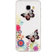 TPU de alta pureza a céu aberto translúcida borboleta padrão caso telefone macio para Galaxy A310 / A510