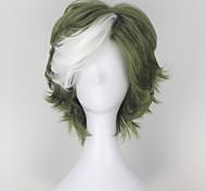 Косплэй парики Kabaneri Of The Iron Fortress Ikoma Зеленый Короткие платья Аниме Косплэй парики 32 CM Термостойкое волокно Мужской