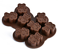 Bear Shaped DIY Chocolate Baking Molds Handmade Soap Mold Ice Cube Moulds Random Color