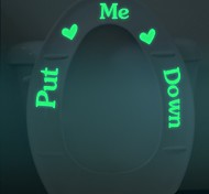 """Put Me Down Toilet Seat Sticker Decal Luminous Stickers Decorative Toilet Seat Cover Sticker Bathroom Stickers"""