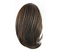 Length Wig Black and Brown Short Ponytail 25CM Synthetic Straight High Temperature Wire Color 2/30