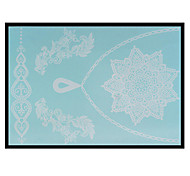Lovely HENNA Lace Big White Face Sticker 15
