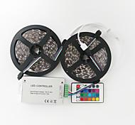 Z®ZDM 2X5M 144W 600X5050 SMD RGB LED Lamp Strip 1BIN2 Signal Line IR24 Iron Controller(DC12V 12A)