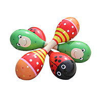 Wood Red/Green Child Rattle for Children All Musical Instruments Toy