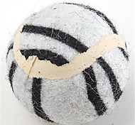 Dog Pet Toys Ball / Mouse Toy Tennis Ball White / Brown / Yellow Textile