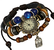Women's Alloy Leather Handcrafted Vintage Bracelet Table Wrist Watch Fashion Watch Cool Watches Unique Watches