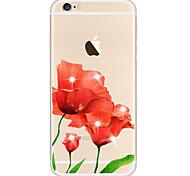Für Hüllen Cover Transparent Muster Handyhülle für das ganze Handy Hülle Blume Weich TPU für AppleiPhone 6s Plus iPhone 6 Plus iPhone 6s