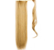 Golden 60CM Synthetic High Temperature Wire Wig Straight Hair Ponytail Color 27X