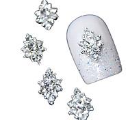 10шт 3d ясно горный хрусталь алмазный цветок DIY аксессуары сплава ногтей украшения
