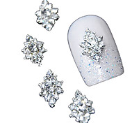 10pcs  3D Clear Rhinestone Diamond Flower DIY Accessories Alloy Nail Art Decoration