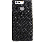 For Huawei Case Shockproof Case Back Cover Case Geometric Pattern Soft PU Leather Huawei
