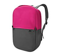pofoko® 13,3 Zoll wasserdichte Oxford-Gewebe Laptoprucksack pink / gelb