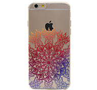For iPhone 6 Case / iPhone 6 Plus Case Transparent / Pattern Case Back Cover Case Mandala Soft TPU AppleiPhone 7 Plus / iPhone 7 / iPhone