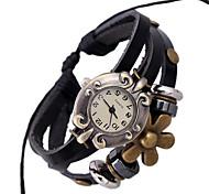 Mulheres Relógio de Moda Bracele Relógio Digital Couro Banda Boêmio Preta marca