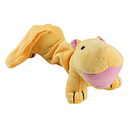 Dog Pet Toys Plush Toy Hippo Yellow Cotton
