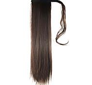 lunghezza parrucca marrone coda di cavallo 60 centimetri filo ad alta temperatura dritto sintetico di colore 2/33