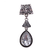 Antique Silver Drop Brooch Scarf  Buckle Jewelry Accessories Scarf Ring For Lady