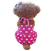 Perros Vestidos Rosa Ropa para Perro Verano Lunares