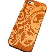 ciliegia meccanica di legno marce intaglio protettiva copertura posteriore iphone caso duro per il iphone se 5s / iPhone / iPhone 5