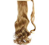 Wig Stuffy Cyan 45CM Synthetic High Temperature Wire Curly Horsetail Color 27X