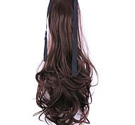 blanco y negro fábrica de longitud 50cm de la venta directa de tipo cola de caballo se unen rizo de pelo cola de caballo (color 33j)