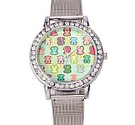 Women Stainless Steel Gold/Silver Band Analog Quartz Bear Case  Wrist Bracelet Bangle Watch Jewelry