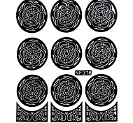 Nail Art Template Sticker-(NF318-Black)