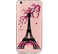 TPU Eiffel Tower Pattern Transparent Soft Back Case for iPhone 6s 6 Plus