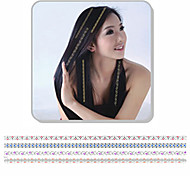 1Pcs New Fashion  Sliver Bronzing Hair Sticker  Hair Accessories