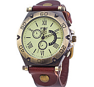 Men's Fashion Simple Fake Three Eye Quartz Watch Wrist Watch Cool Watch Unique Watch