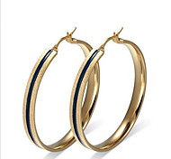 Earring Circle Jewelry Women Fashion Party / Daily / Casual Titanium Steel 1 pair Gold
