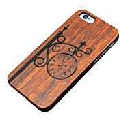 caso ultra sottile orologio da parete in legno protettiva copertura posteriore dura iphone PC per il iPhone SE / 5s iphone / iphone 5
