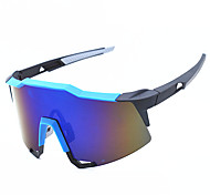 99259 OSSAT sports glasses Wind outdoor glasses glasses Cycling glasses - black and blue film plating
